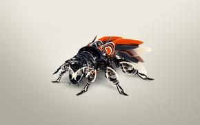 robot, CGI, digital art, DeviantArt, render, Fly