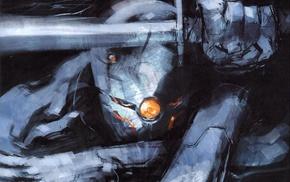 digital art, video games, Gray Fox character, Metal Gear Solid