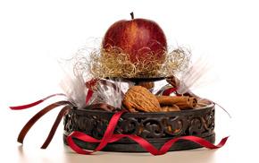 печение, корзинка, вкусно, яблоко