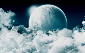 space, clouds