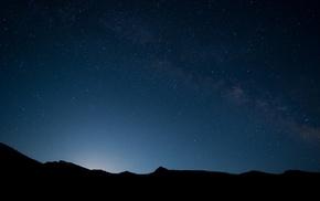landscape, night, nature, sky, Milky Way, stars