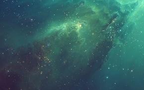TylerCreatesWorlds, nebula, space art, multiple display
