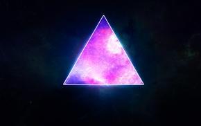 фиолетовый, треугольник, абстрактные