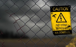 high voltage, zombies, warning signs