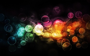 абстрактные, красочно, круг
