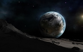 Земля, луна, космос, планета