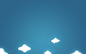абстрактные, синий, облака