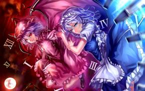 anime, Izayoi Sakuya, Remilia Scarlet, Touhou
