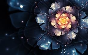 abstract, fractal flowers, lotus flowers