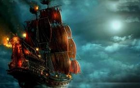 ship, pirates