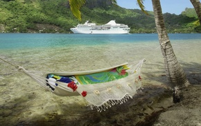 cruise ship, yacht, summer