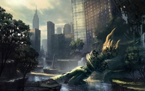 urban, New York City, apocalyptic, concept art, The Last of Us