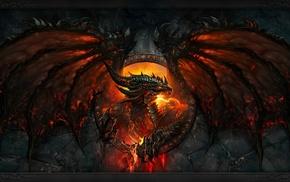 зуб, лицо, дракон, Blizzard Entertainment, огонь