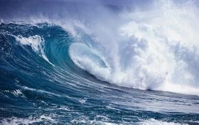 waves, summer, storm, foam