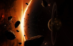 space art, space, planet, asteroid