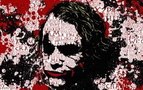 брызги краска, Бэтмен, Темный рыцарь, типография, аниме