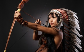 bows, headdress, Native Americans