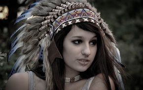 Native Americans, headdress, piercing