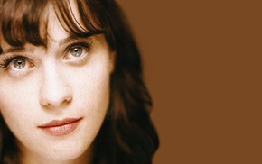 girl, actress, face, Zooey Deschanel, brunette