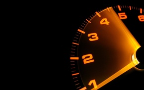 car, speedometer, black background