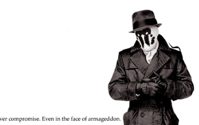 Watchmen, white background, Rorschach, quote