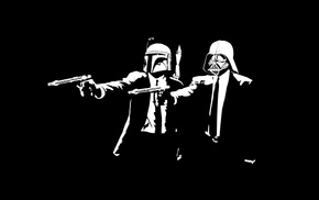 Darth Vader, Pulp Fiction, movies, Boba Fett, Star Wars
