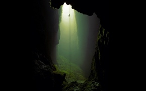 cave, ropes, climbing