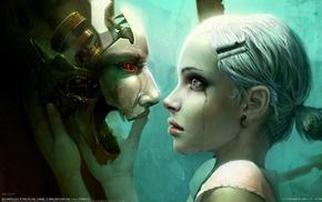 girl, face, fantasy