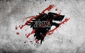 Game of Thrones, Winter Is Coming, House Stark, grunge