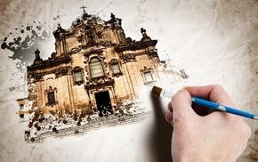 church, painting
