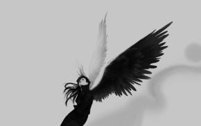 wings, girl, fantasy