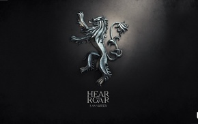 House Lannister, digital art, A Song of Ice and Fire, Game of Thrones, sigils