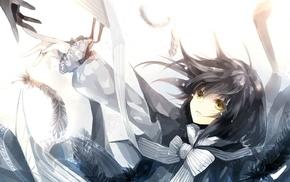 перья, девушки из аниме, оригинальные персонажи