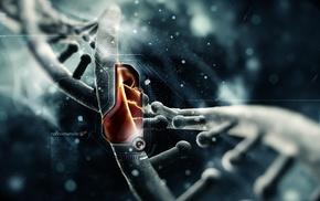 video games, digital art, genetics, DNA, simple, simple background