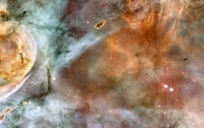 stars, space, galaxy, Hubble Deep Field, triple screen, multiple display