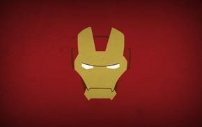 minimalism, heroes, Blo0p, superhero, Iron Man