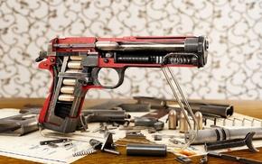 ammunition, M1911, gun, cutaway, pistol