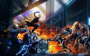 Mass Effect, Commander Shepard, Mass Effect 2, Garrus Vakarian, Jack, Mass Effect 3