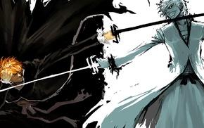 sketches, fighting, Kurosaki Ichigo, anime boys, Bleach, Hollow