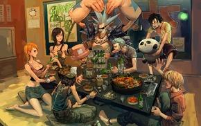 Usopp, Franky, One Piece, Nami, Roronoa Zoro, Sanji