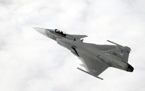 Jet, sky, airplane, JAS, 39 Gripen, aircraft