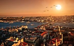 Турция, закат, Стамбул