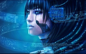 cyborg, Cortana, artwork, video games, MagicnaAnavi, Halo