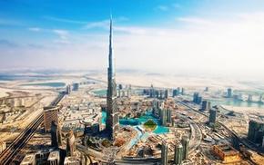 tilt shift, Burj Khalifa, Abu Dhabi, Dubai, building