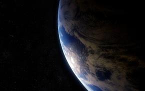 Earth, space, dark