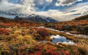river, landscape, mountain, HDR, nature
