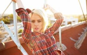 блондинка, модель