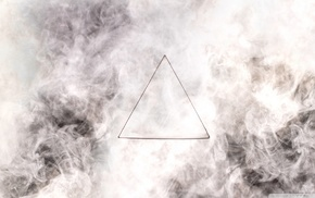 triangle, smoke, minimalism