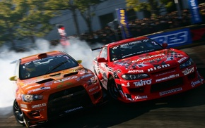 Silvia, Mitsubishi Lancer Evolution, drift, Mitsubishi Lancer Evo X, Team Orange