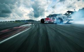 дым, спорт, машина, гонки, дрифт